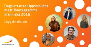 Vakna Uppsala & Uppsala läns mest företagsamma person 2016
